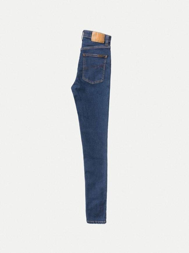 Jean skinny taille haute bleu en coton bio - hightop tilde light navy - Nudie Jeans num 6