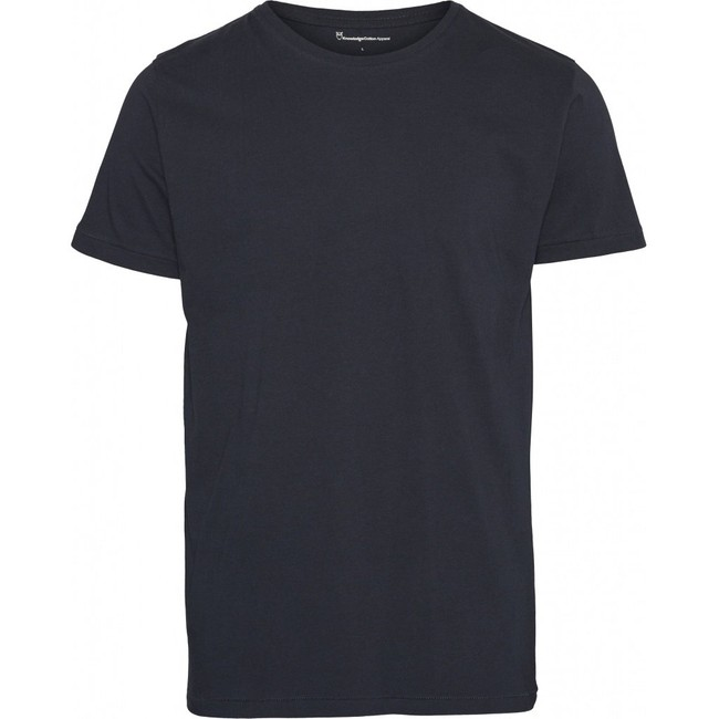 T-shirt bleu nuit en coton bio - Knowledge Cotton Apparel