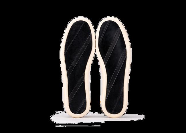 Chaussure semelle pneu recyclé cuir recyclé blanc - graviere - Oth num 3