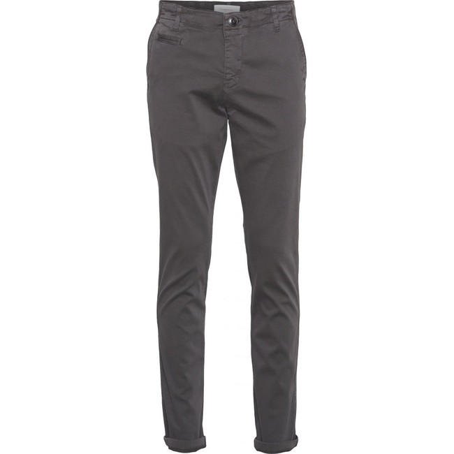 Chino slim gris en coton bio - joe - Knowledge Cotton Apparel
