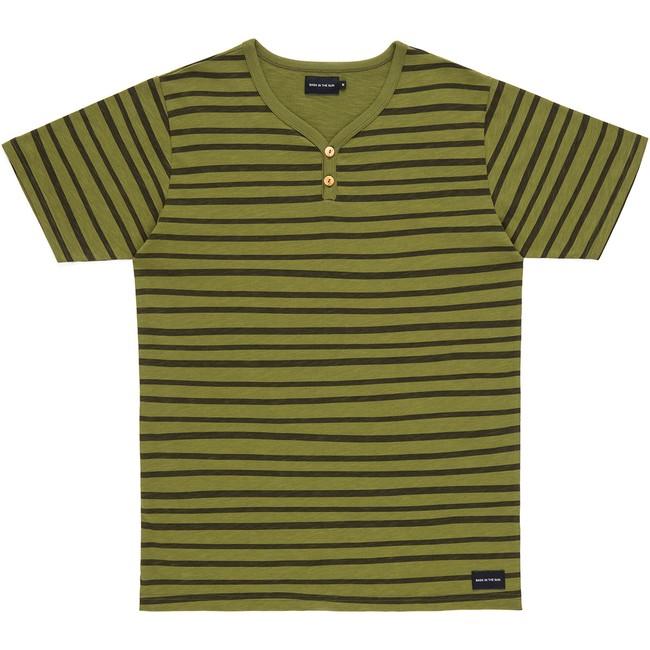T-shirt en coton bio kaki esperanza - Bask in the Sun