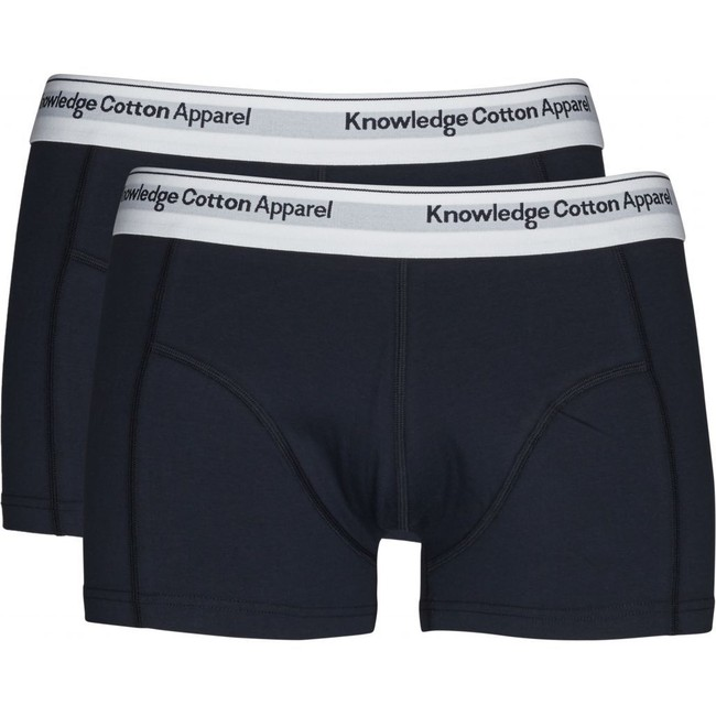 Pack boxers unis marine en coton bio - Knowledge Cotton Apparel