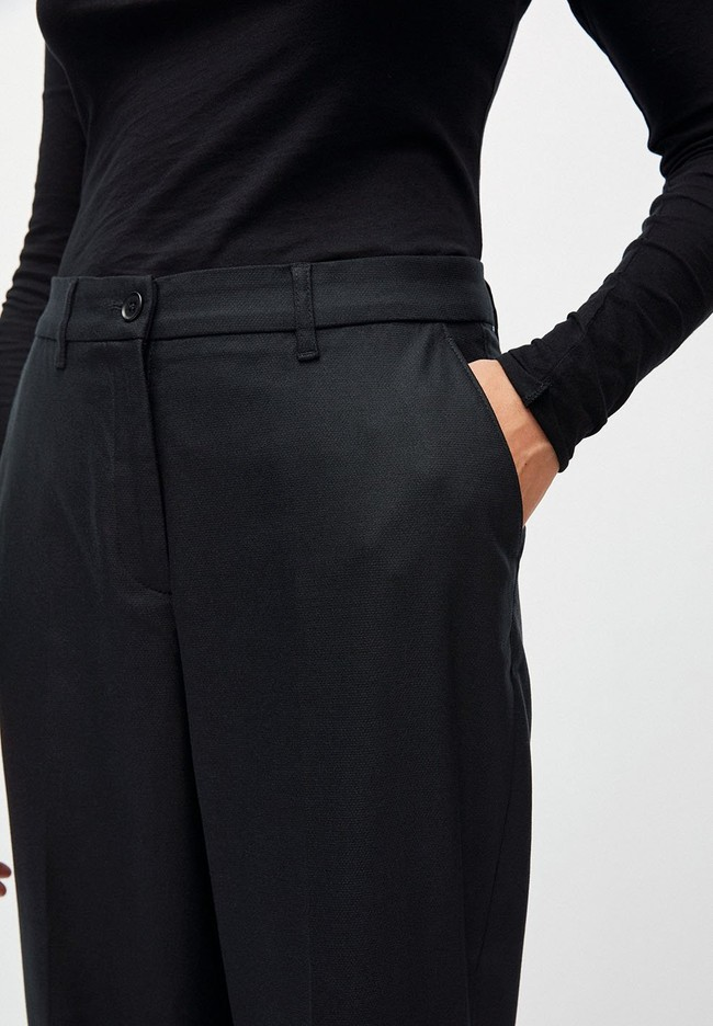 Pantalon à pinces noir en tencel - herttaa - Armedangels num 3