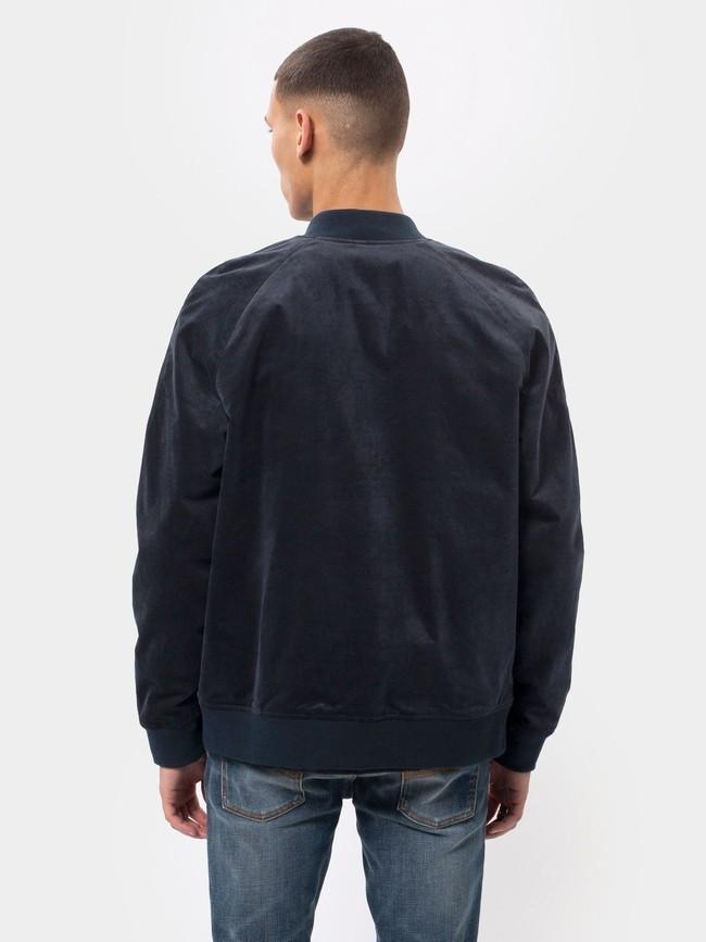 Veste bomber marine en coton bio - mark - Nudie Jeans num 1