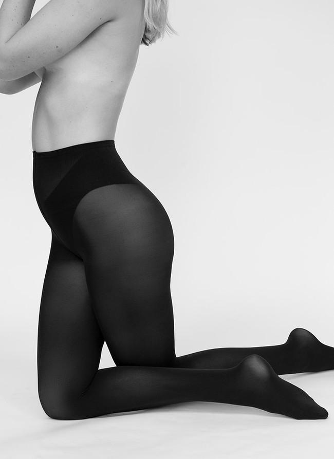 Collants 60 deniers noirs recyclés - olivia - Swedish Stockings num 1