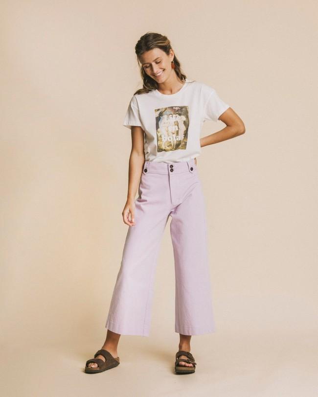 T-shirt imprimé blanc en coton bio - life en bolas - Thinking Mu num 2