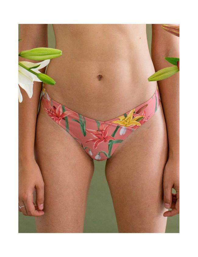 Bas de bikini en nylon recyclé - bouquet - Reset Priority num 1
