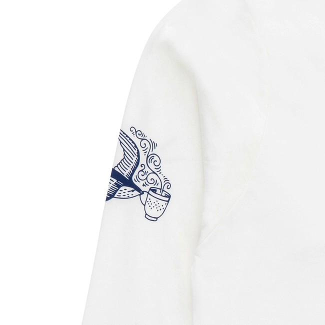 T-shirt en coton bio white coffee ls - Bask in the Sun num 3
