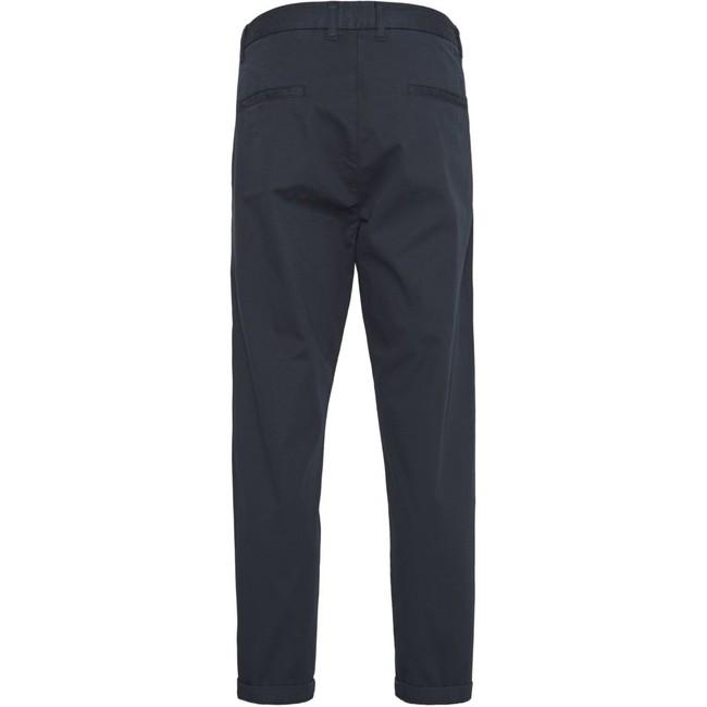 Chino court ample bleu nuit en coton bio - bob - Knowledge Cotton Apparel num 1