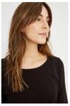 T-shirt à manches longues noir en coton bio - fallon - People Tree - 2