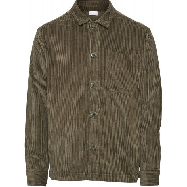Veste velours vert forêt en coton bio - Knowledge Cotton Apparel