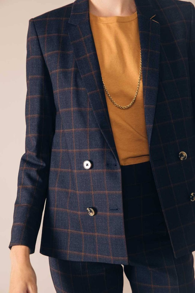Veste tailleur boston bleu d'écosse - 17h10 num 2