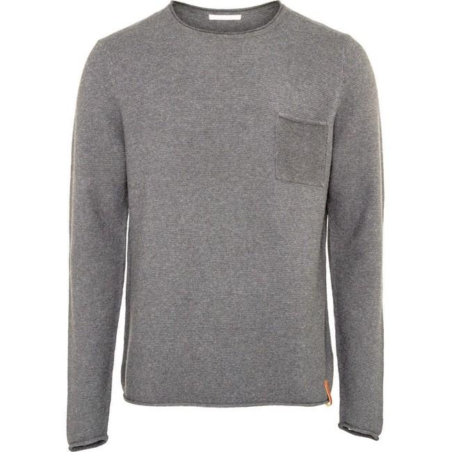 Pull avec poche gris en coton bio - Knowledge Cotton Apparel