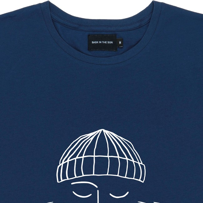 T-shirt en coton bio night blue sailor - Bask in the Sun num 1