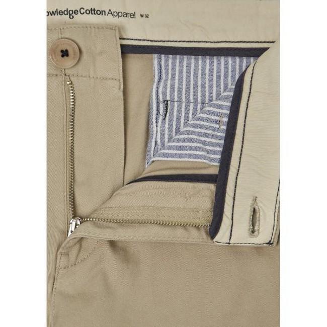 Short chino beige en coton bio - Knowledge Cotton Apparel num 2