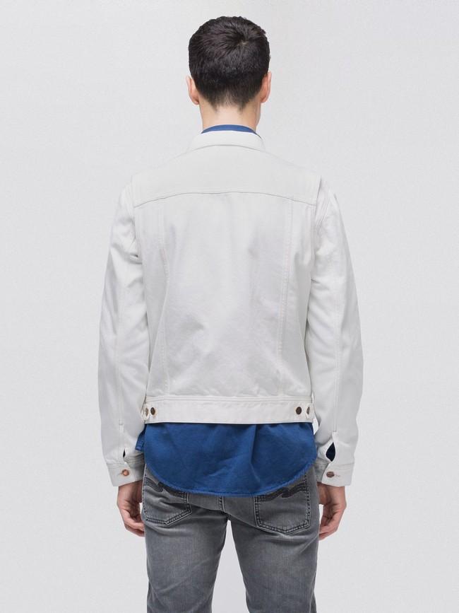 Veste en jean écru en coton bio - tommy - Nudie Jeans num 2