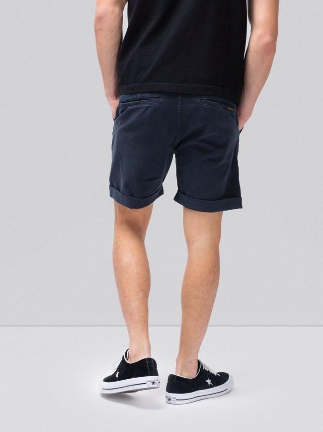 Short marine en coton bio - luke - Nudie Jeans num 2
