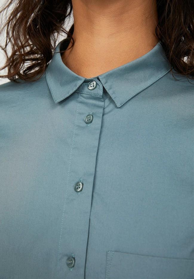 Chemise à manches longues bleue en coton bio - pernillaa - Armedangels num 3