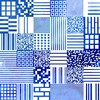 "Top ""simplissime"" col v motif qrcode - Bleu Tango - 4"