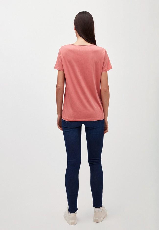 T-shirt rose en coton bio - haadia - Armedangels num 2