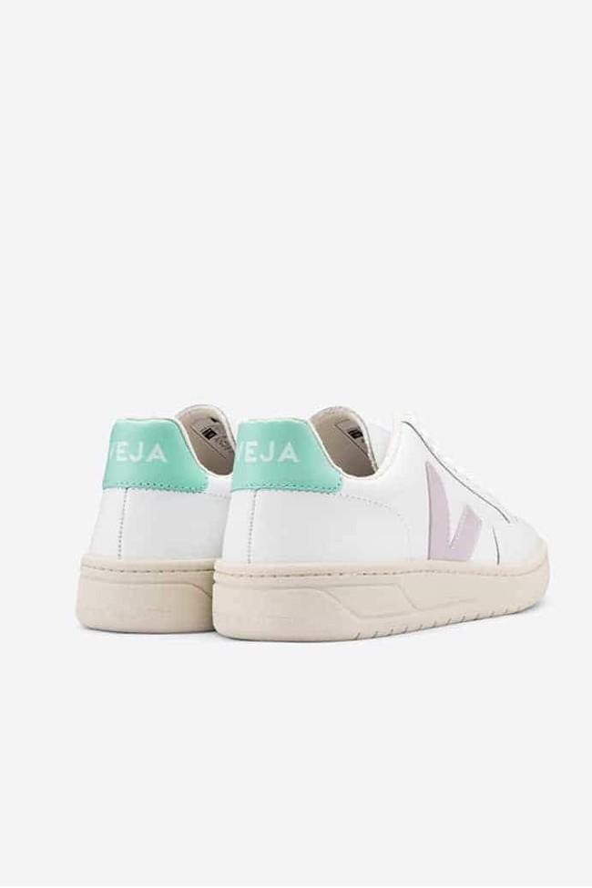 Baskets v-12 extra white parme turquoise - Veja num 1