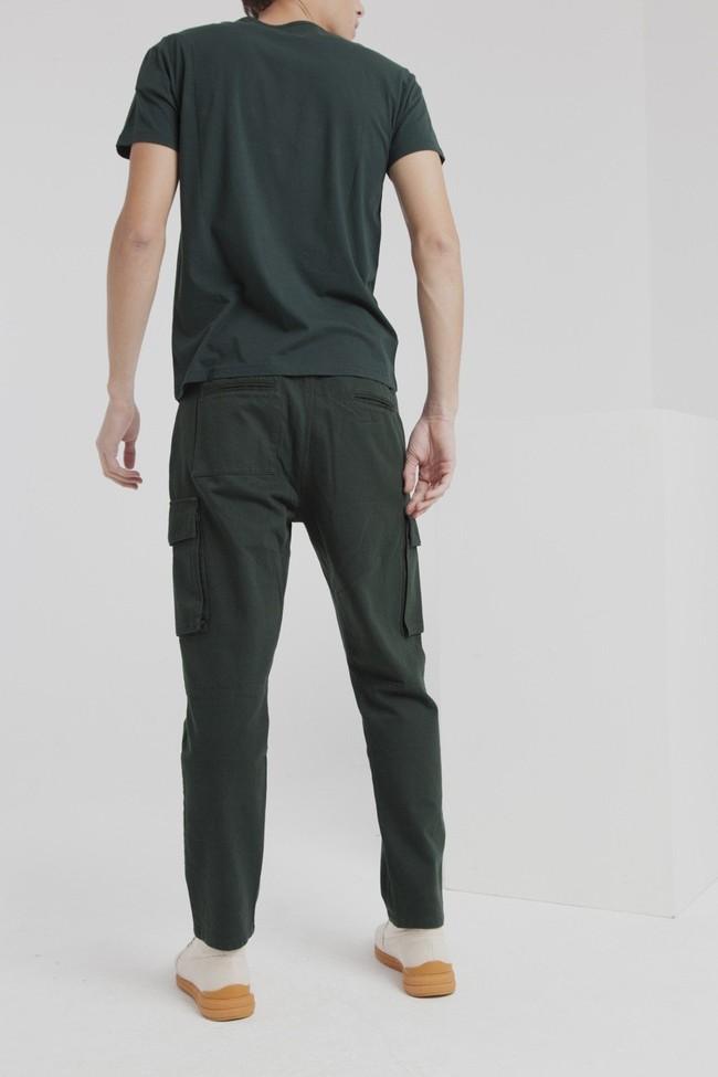 Pantalon cargo vert en coton bio - Thinking Mu num 2