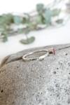 Bague martelée béton et argent - rouge rubis - Elle & Sens - 4