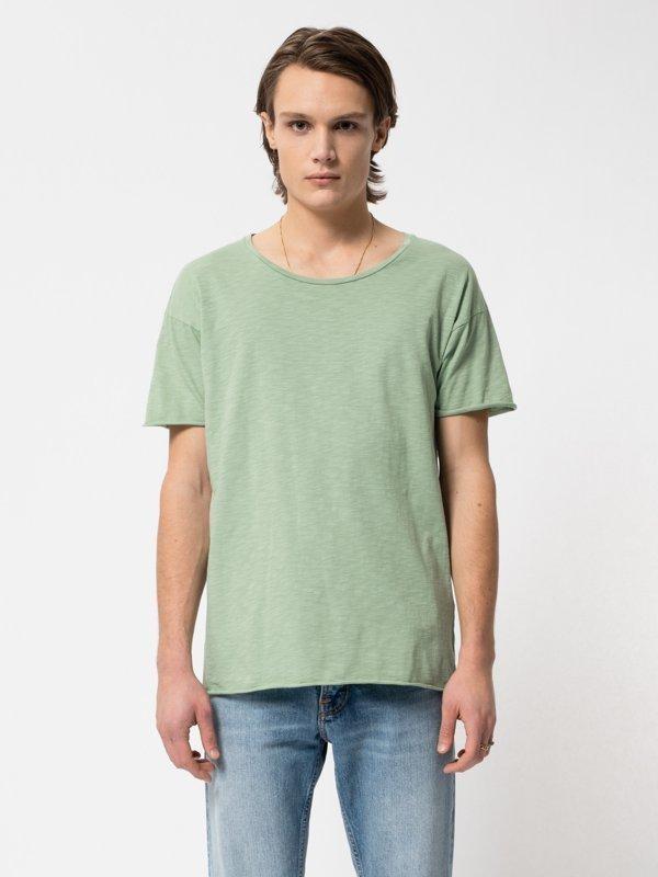 T-shirt vert en coton bio - roger - Nudie Jeans