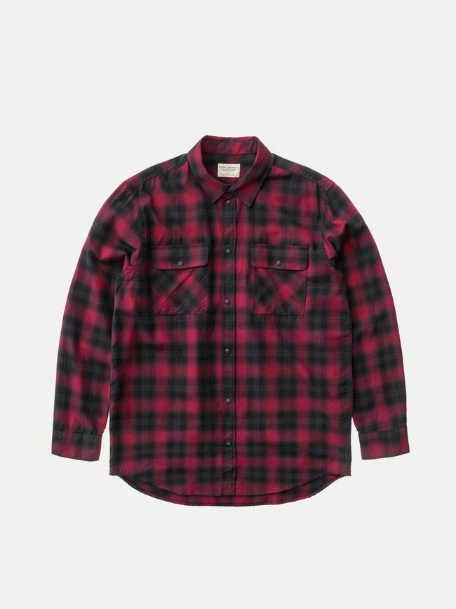 Chemise à carreaux rouge et noir - gabriel - Nudie Jeans num 6