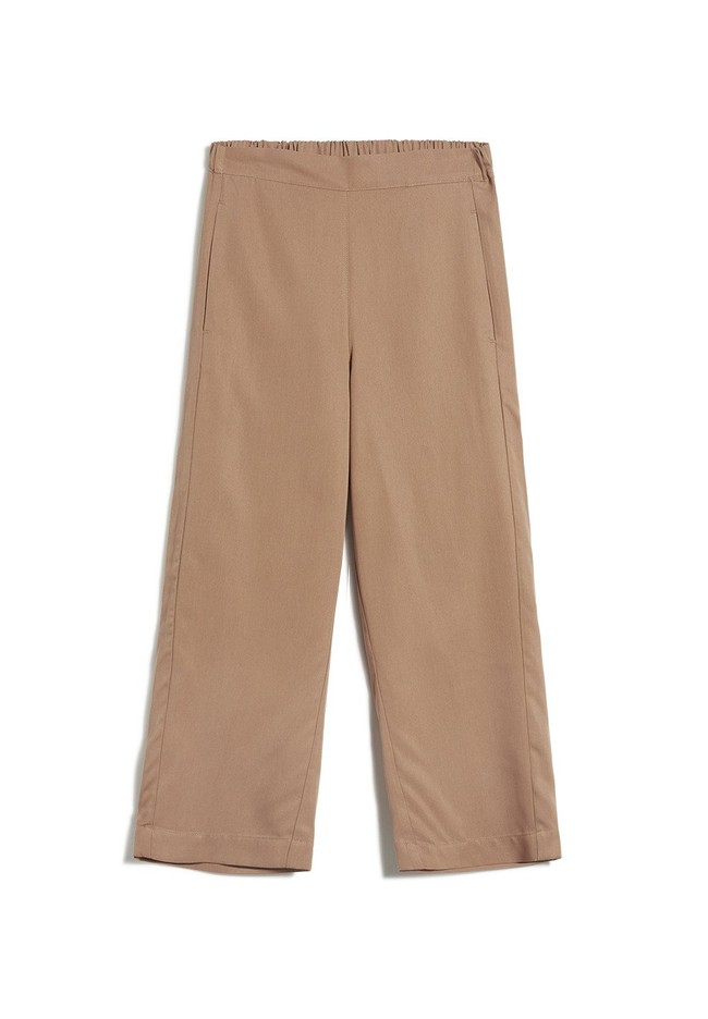 Pantalon ample camel en tencel - kamalaa - Armedangels num 4