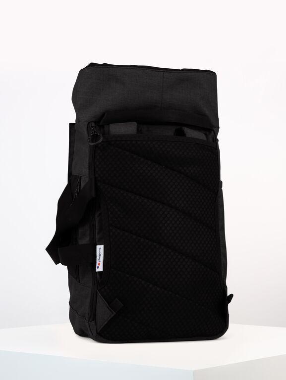 Sac à dos noir anthracite recyclé - blok medium anthracite melange - pinqponq num 4