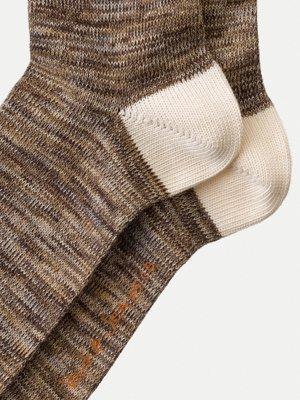 Chaussettes hautes marron chiné - rasmusson - Nudie Jeans num 2