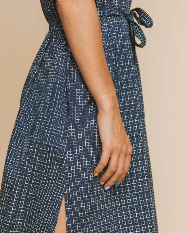 Robe longue oversize bleue en coton bio - mandy - Thinking Mu num 3