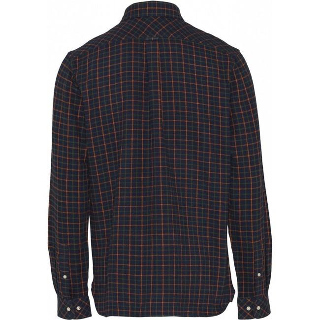 Chemise à carreaux flanelle en coton bio - Knowledge Cotton Apparel num 1