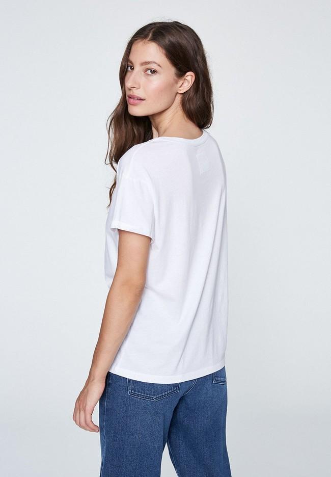 T-shirt blanc coton bio - naalin - Armedangels num 2