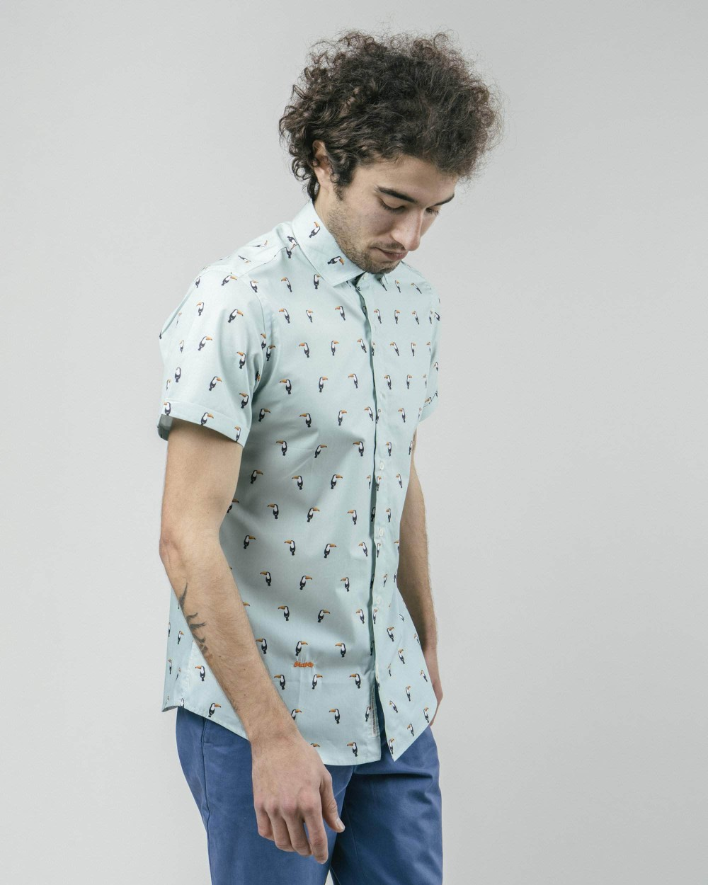 Tropical tucan printed shirt - Brava Fabrics