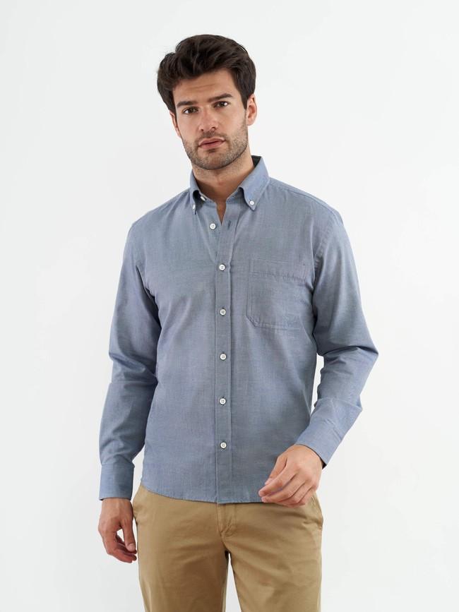 La chemise chambray | coton fair trade, tissage français - Lautrec num 1