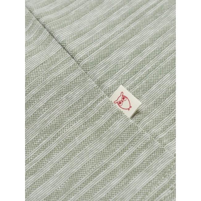 T-shirt vert clair chiné en coton bio - slope striped pique - Knowledge Cotton Apparel num 3