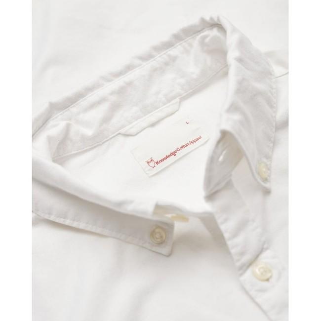 Chemise blanche en coton bio - stretched oxford - Knowledge Cotton Apparel num 2