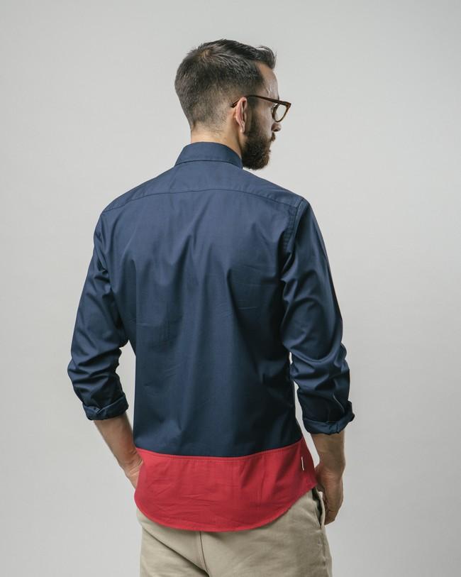 Navy tile essential shirt - Brava Fabrics num 4
