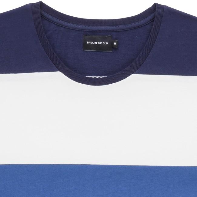 T-shirt en coton bio navy cenitz - Bask in the Sun num 1