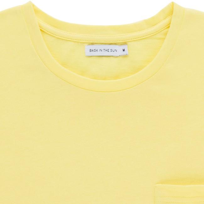 T-shirt en coton bio yellow baztan - Bask in the Sun num 1