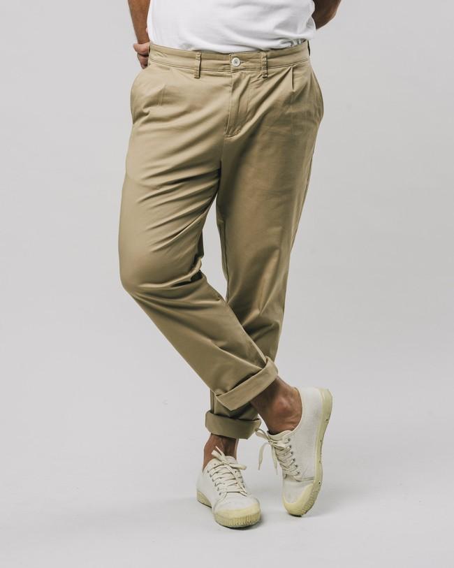 Pleated chino pants beige - Brava Fabrics num 3