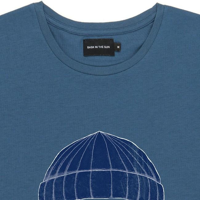 T-shirt en coton bio blue to the sea - Bask in the Sun num 1