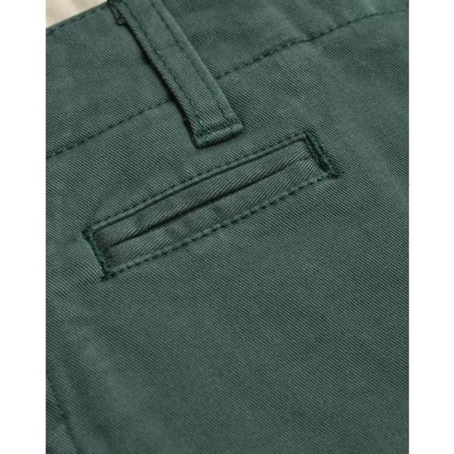 Short chino vert forêt en coton bio - Knowledge Cotton Apparel num 2
