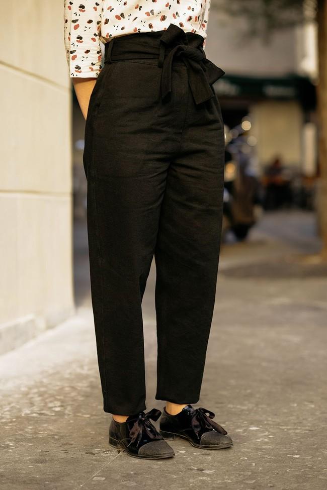 Le Pantalon Zephyr Noir en coton bio - Atelier Unes num 4