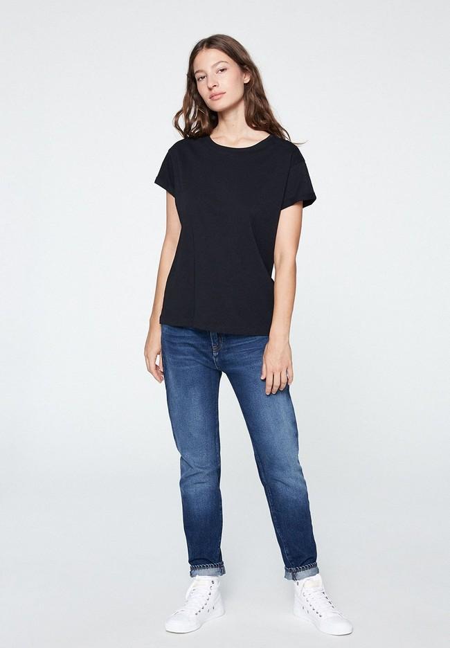T-shirt noir en coton bio - naalin - Armedangels num 4