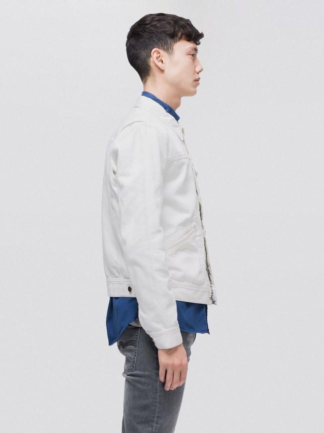 Veste en jean écru en coton bio - tommy - Nudie Jeans num 1