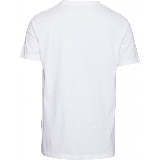 T-shirt imprimé blanc en coton bio - alder - Knowledge Cotton Apparel num 1