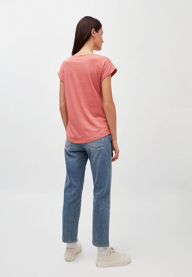 T-shirt uni rose pâle en coton bio - laale - Armedangels num 1